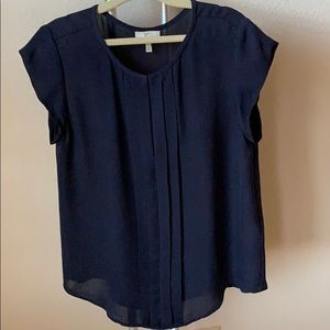 Joie silk cap sleeve blouse - navy